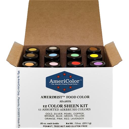 .65 oz AmeriMist 12 Color Sheen Airbrush Kit