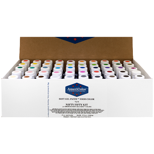 .75 oz Soft Gel Paste 50 Color Nifty Fifty Kit